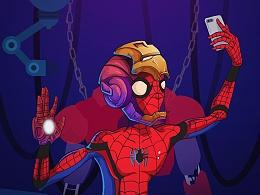 Spider-Man cheers!