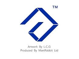 VI设计设计师个人LOGO设计蓝色几何L.C.G三字母合一