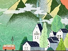 电影《欢迎来到熊仁镇》概念海报