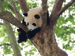 熊猫像素画