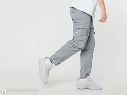 STRETAG思锐泰格秋季灰色口袋工装裤直筒军事长裤