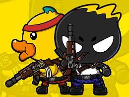 B.Duck X ZCOOL站酷联名扑克共创大赛之小霸王游戏合集