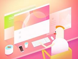 原创插画:设计师和他们的工作