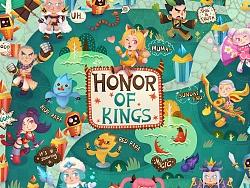 王者荣耀周边-万用印制品贴纸《5v5荣耀之战》插画设计