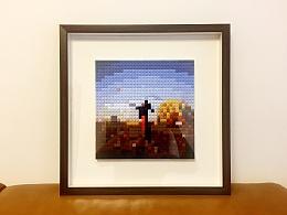 【创意手工】彩色积木还原记忆的模样---像素画
