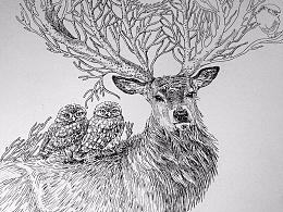 钢笔画——遇见