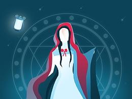 千淘万画手机淘宝主题皮肤--魔法女巫