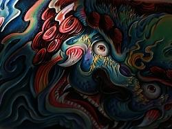 【革也皮雕】灵魂深处的眼睛——福狮绘短夹