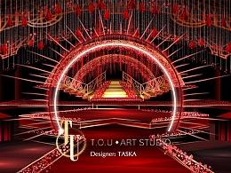 婚礼设计 红色舞台(动图步骤)