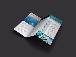 教育培训科技商务互联网科技产品通用三折页