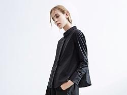【花树果原创设计女装】2017秋新水洗棉撞线长袖小衬衫