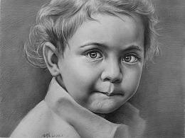 素描小女孩