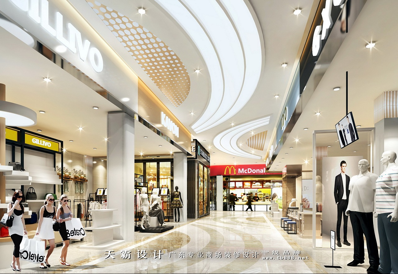 广州超市装修设计可参考商场设计效果图