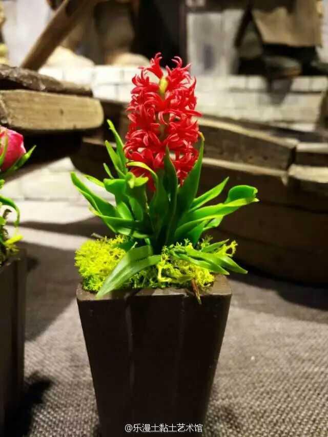 粘土盆栽作品图解