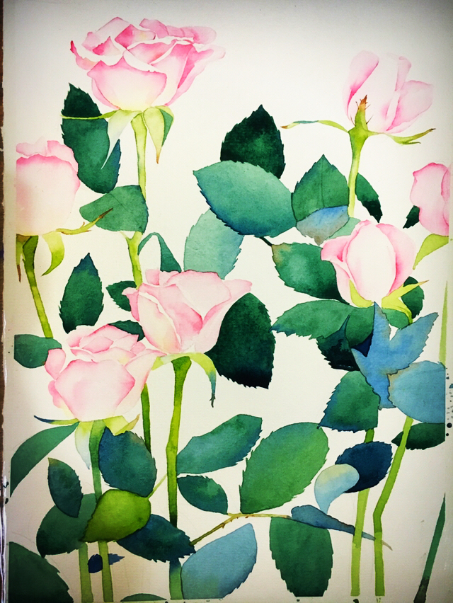 原创作品:手绘水彩花卉