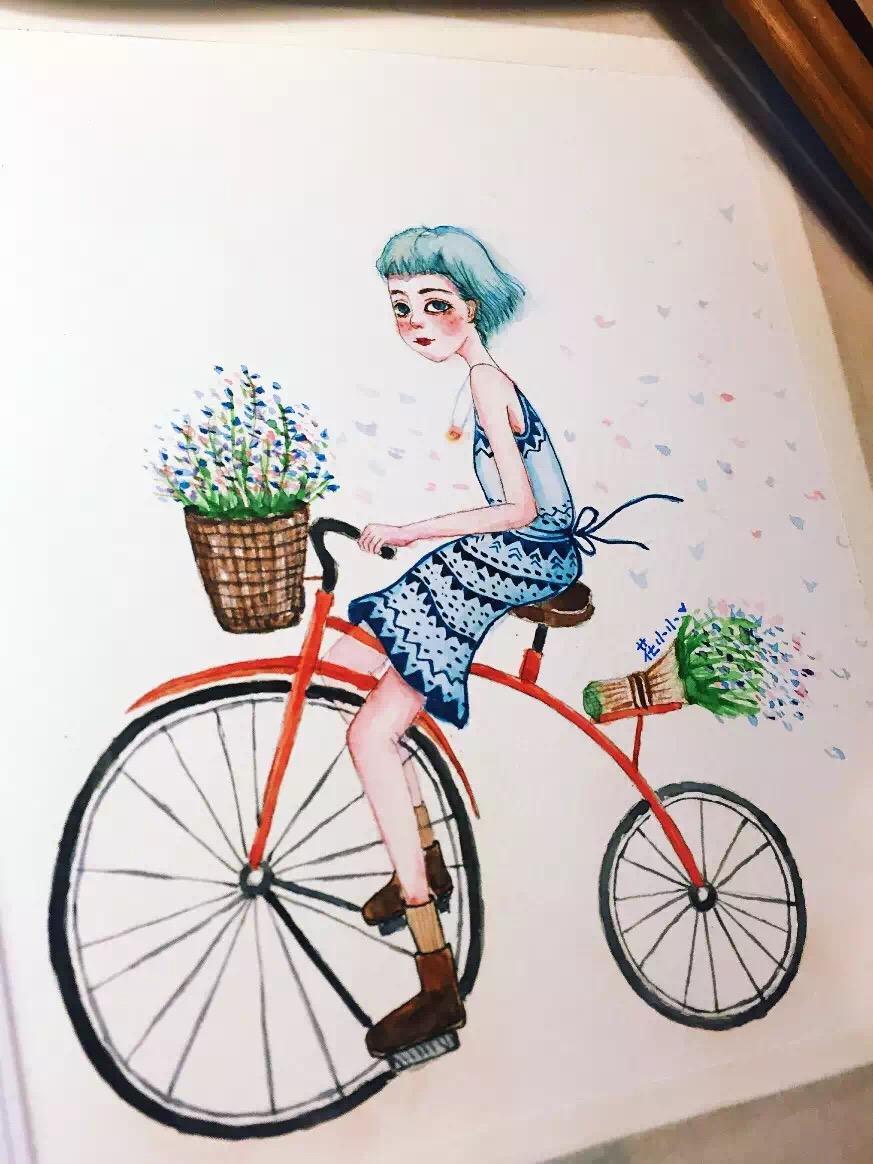 手绘水彩画