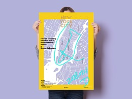 柏林纽约伦敦城市指南地图海报设计城市礼品包装纸设计