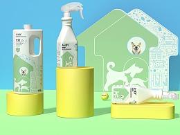 原创•宠物消毒水包装设计-西安厚启设计