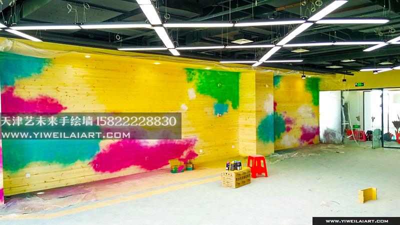 健身房手绘墙涂鸦