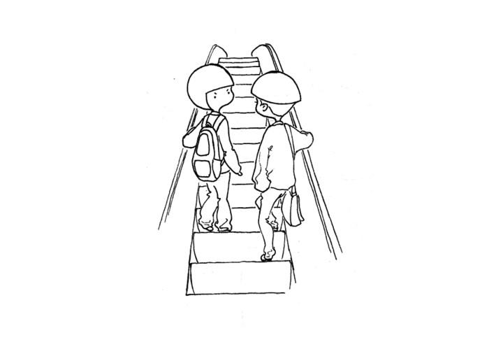 电梯简笔画-涂鸦 潮流 插画 vinchel 原创设计作品 站酷 ZCOOL