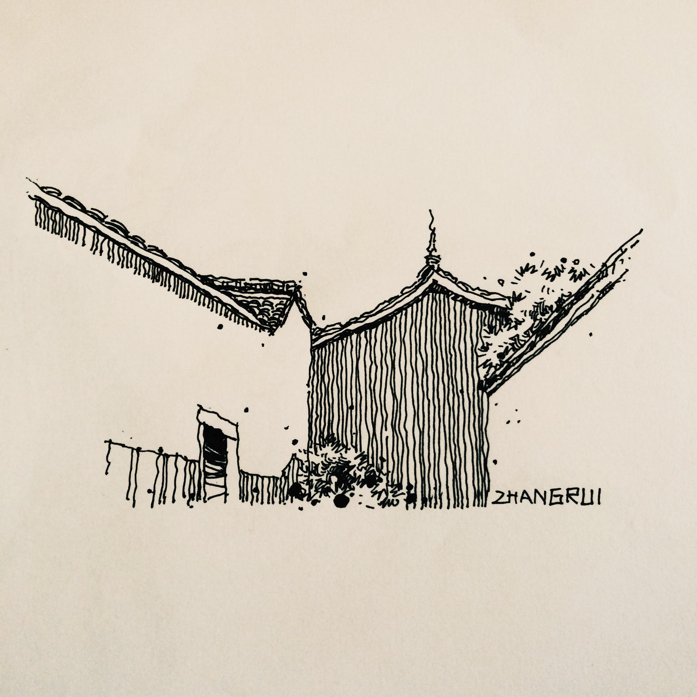 风景速写 建筑速写 乡村速写 钢笔速写