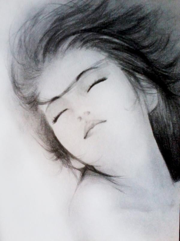 古装漫画美女手绘图 古装女子  手绘铅笔画古装美女图片展示_手绘铅笔