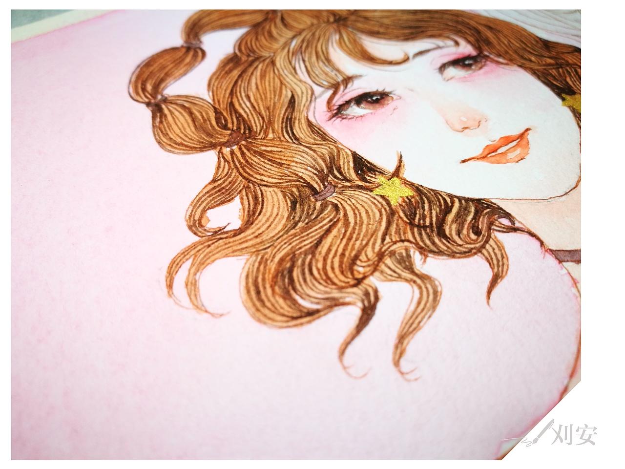 桃花气暖玉生香 水彩手绘