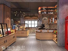 河北廊坊_爱拉屋面包店装修设计