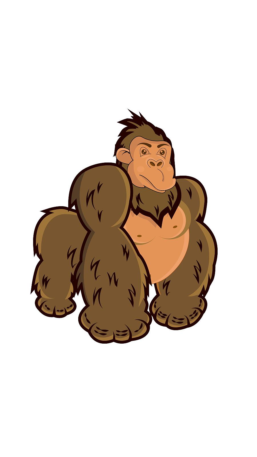 大猩猩,儿童插画