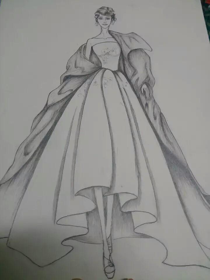 女王范儿|服装设计|手绘艺术