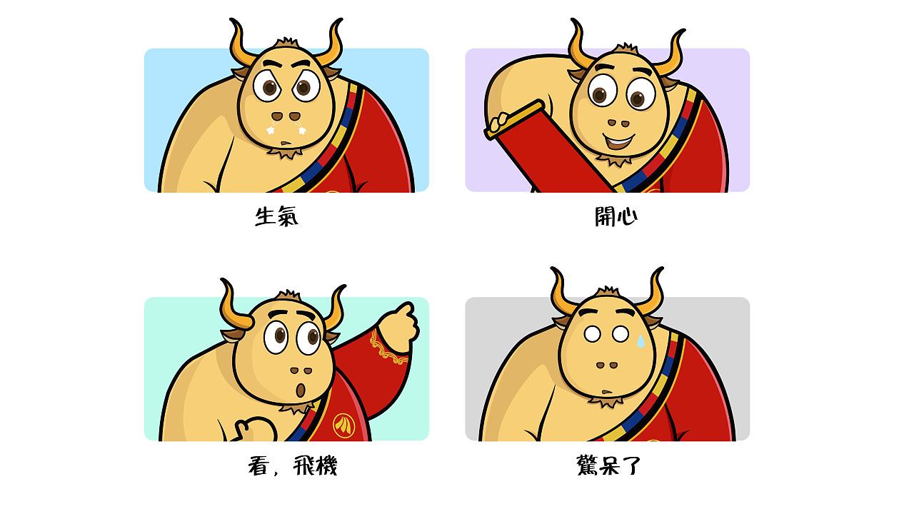 牛 吉祥物以及延展图片