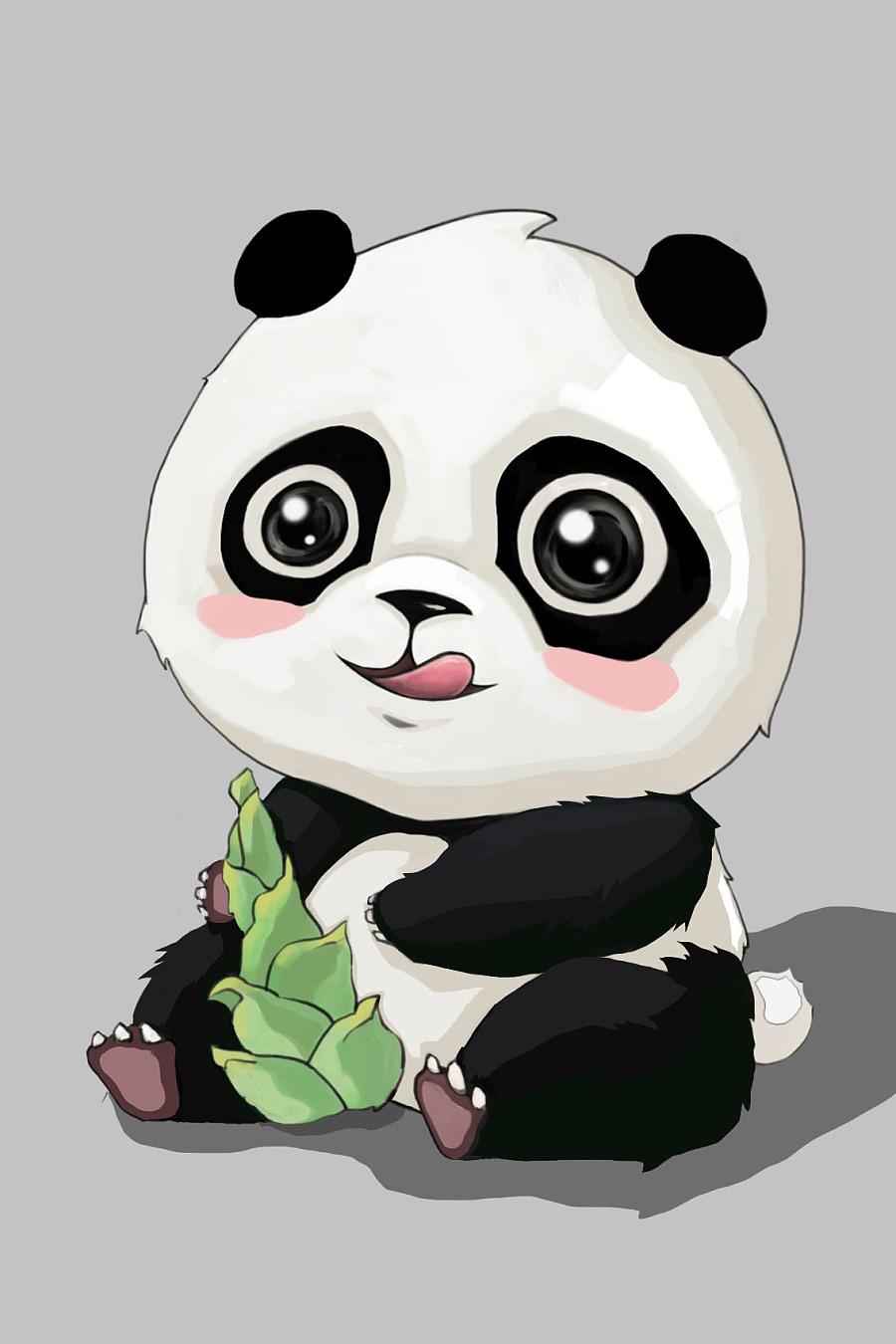 原创作品:贱贱小熊猫图片
