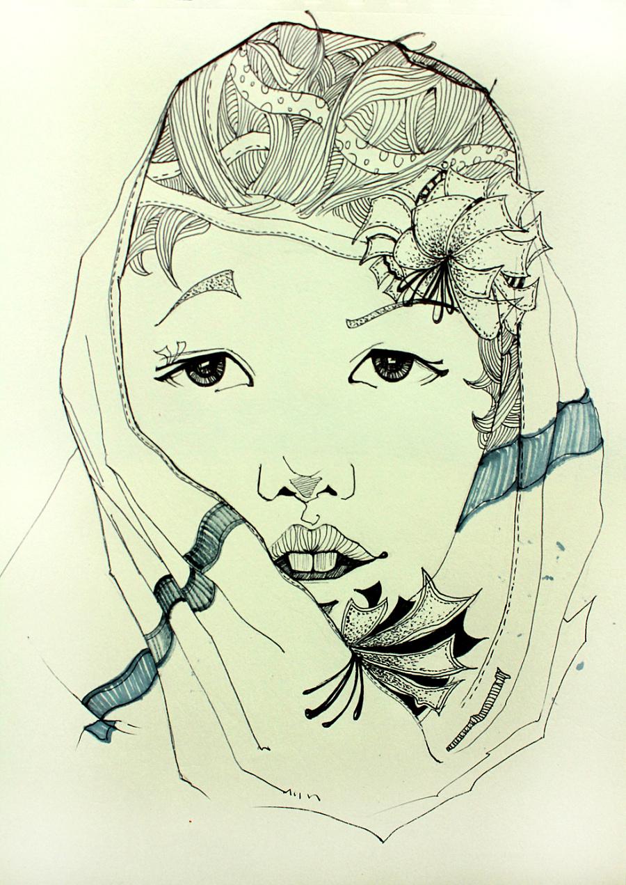 人物插画|绘画习作|插画|张彦军