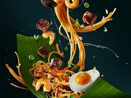 有食间 菜品飞溅动态效果海报拍摄