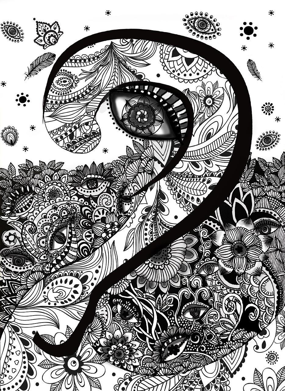 数字1—9原创手绘插画