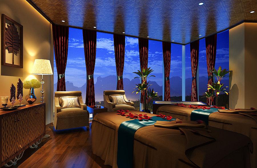 自贡欧式风格大郊亭美容会所设计|自贡专业美容院