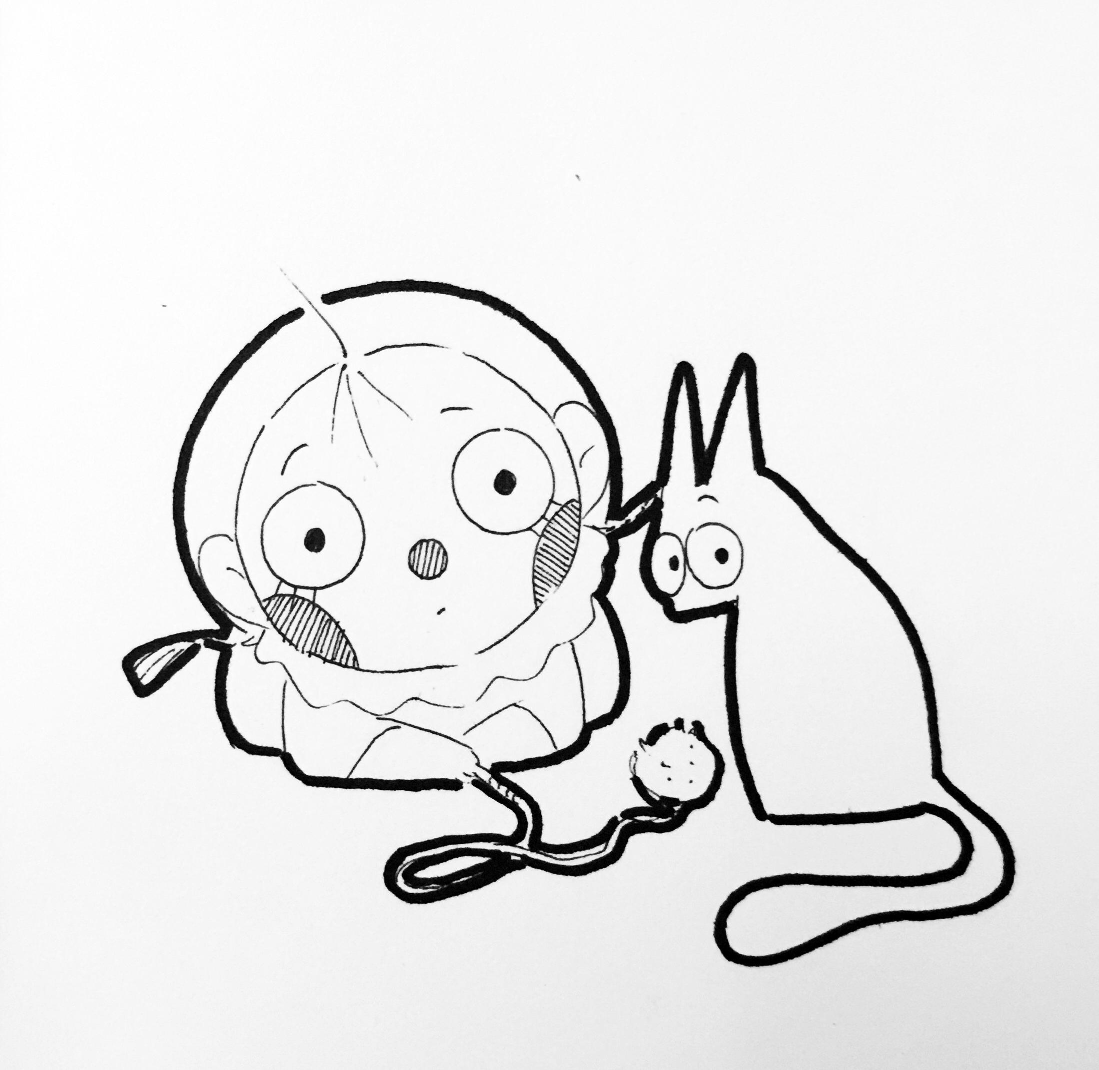 动漫 简笔画 卡通 漫画 手绘 头像 线稿 2199_2142