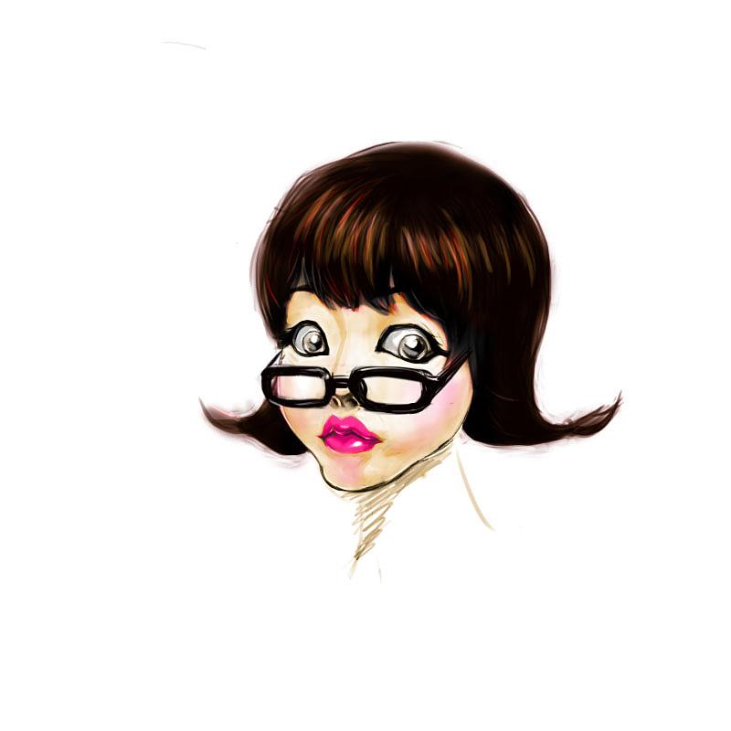 戴眼镜的女孩