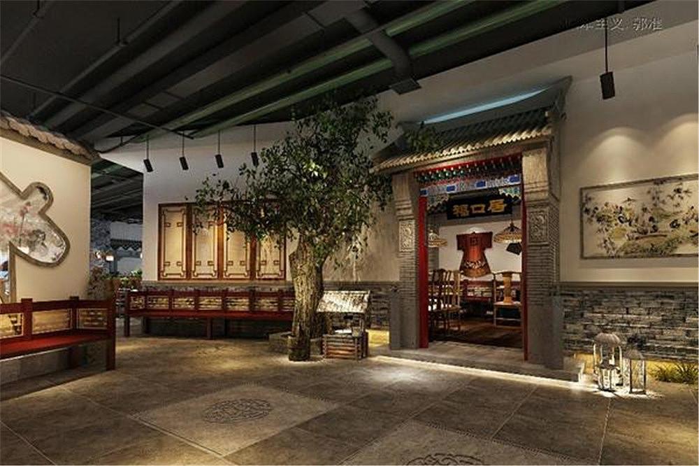 北京福口居北太平庄店案例设计视频|空间|室内设计三维家3d设计软件教程餐饮图片