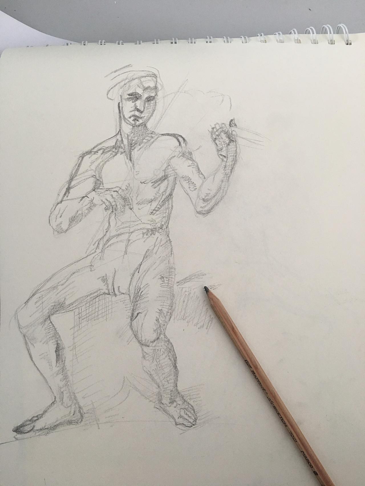 人像素描练习图片