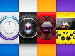 拟物风格-Four icons