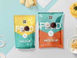 小清新饼干膨化食品包装样机贴图教程