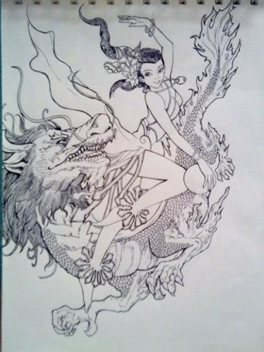 手绘临摹|插画|商业插画|舞画 - 原创作品 - 站酷