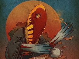 大怪兽浮世绘系列之一