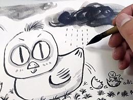 手把手教你画一张水彩漫画-1