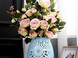 详情页:创意镂空发光花瓶