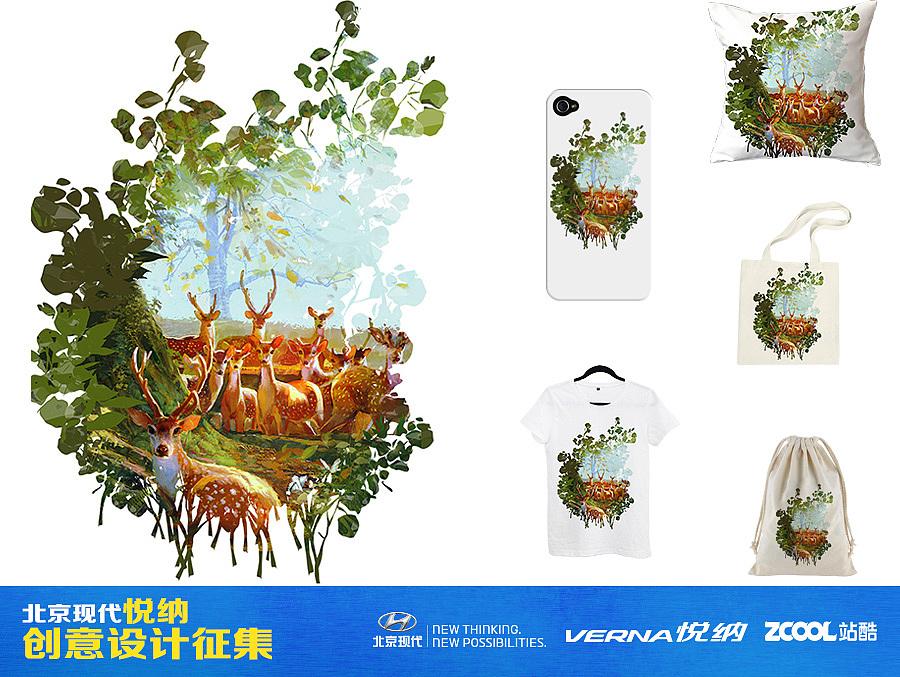 自然和动物系列衍生品设计|插画|商业插画|飞鸟的绘画