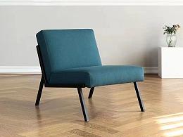 NAKLK丹麦设计北欧布艺单人沙发工作室现代办公休闲