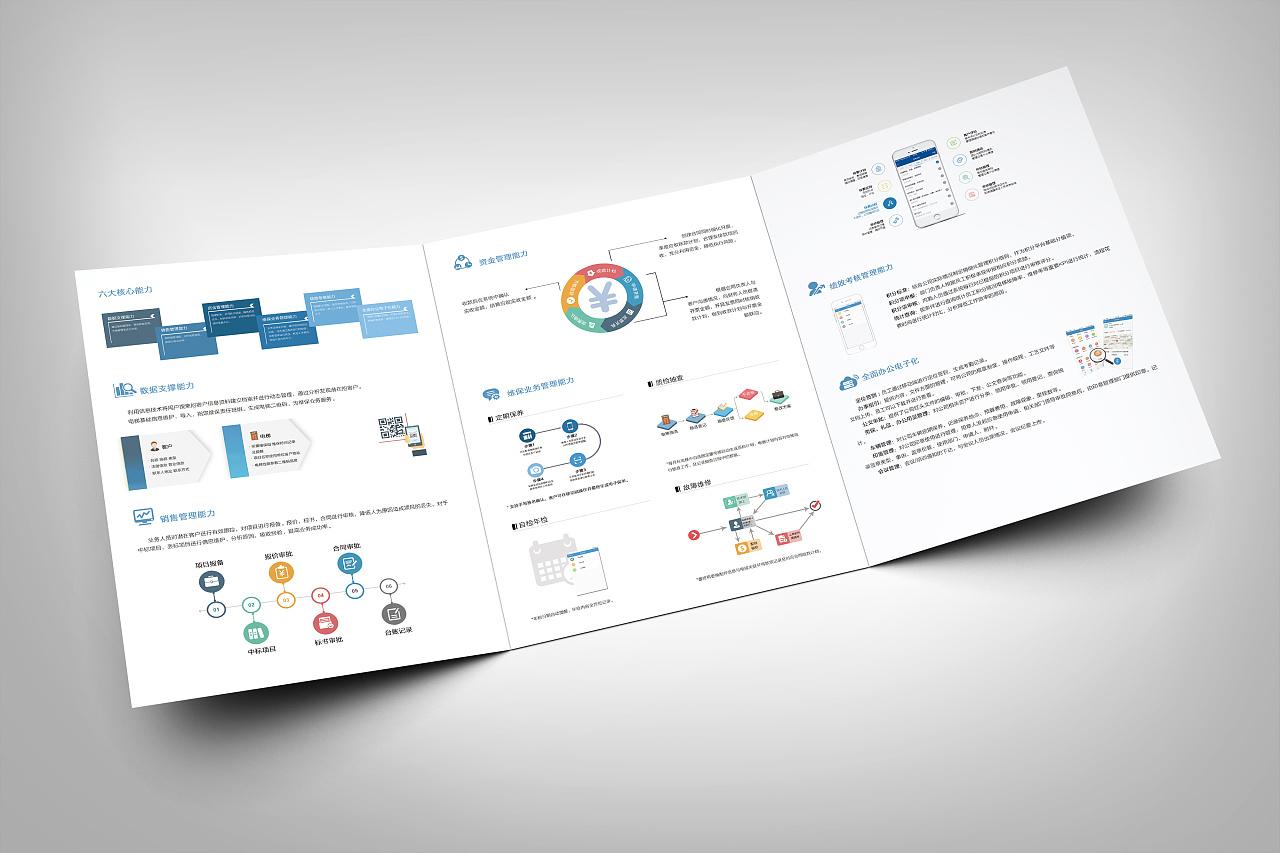 公司产品宣传三折页-电梯运营管理系统图片