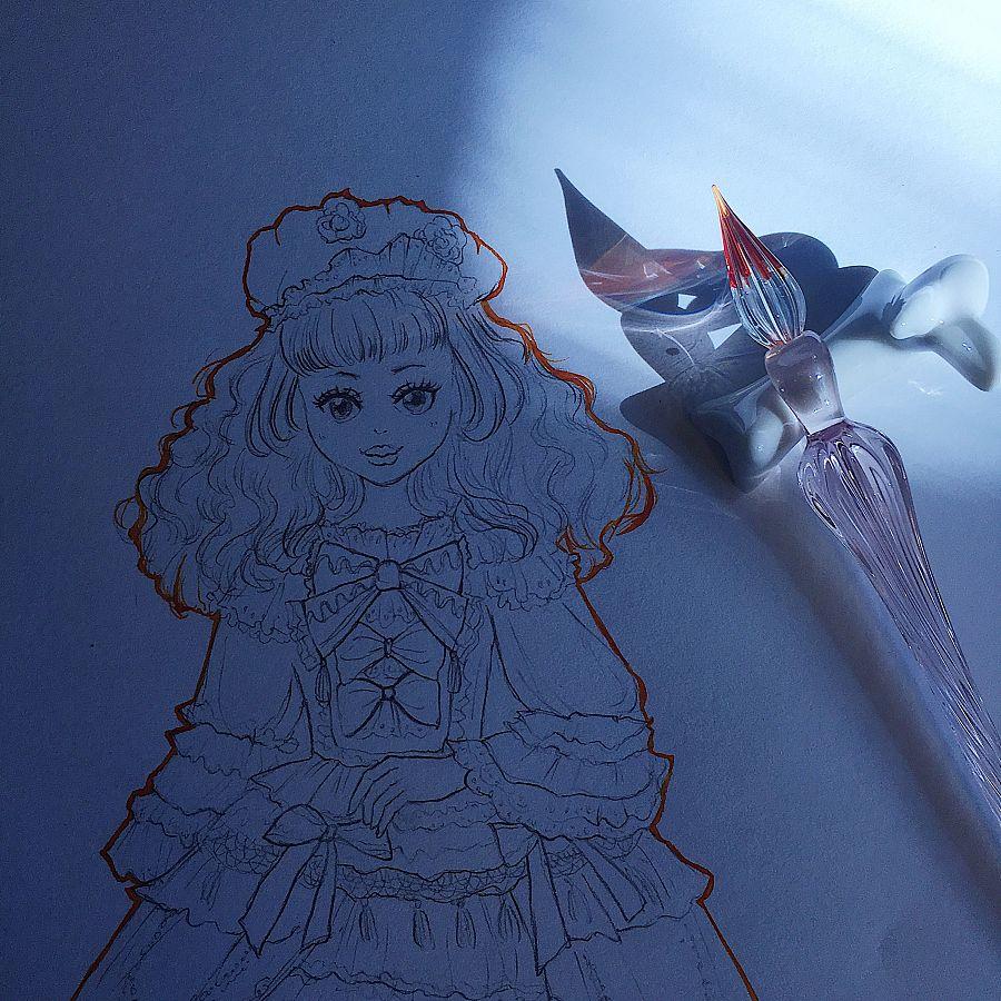 【shera许雪雪】lolita手绘铅笔稿